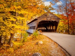 Fall New Hampshire Bridge