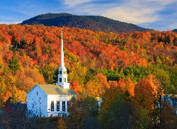 Fall Vermont Church